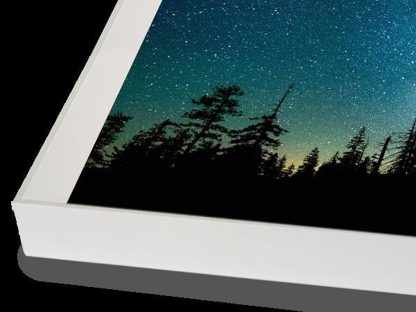 MidCentury Modern White Frame