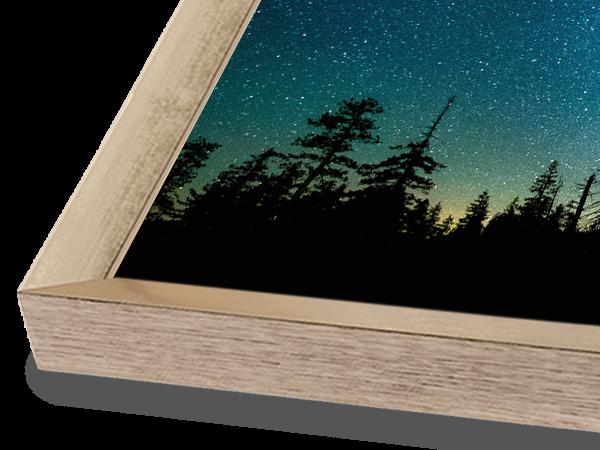 Modern Block Soft Gold Frame