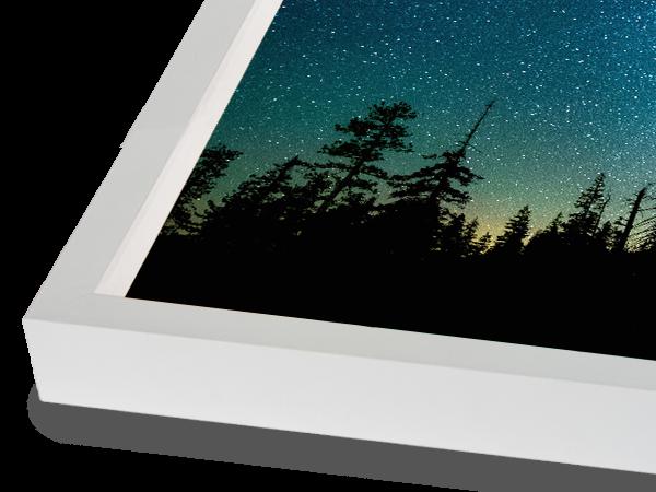 Modern Tall Block White Frame