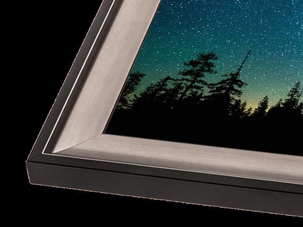 Silver & Black Scoop Gallery Series Frame