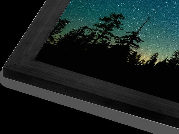 Metal Flat Black Frame