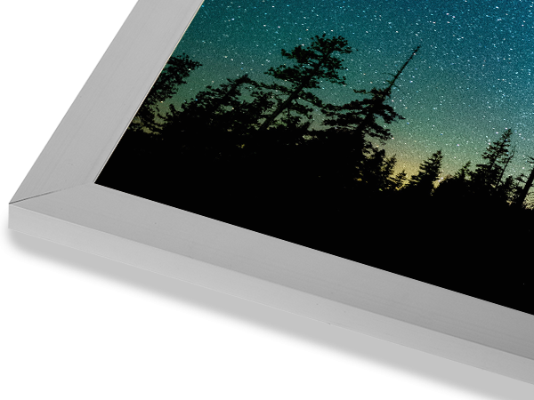 Metal Flat Silver Frame