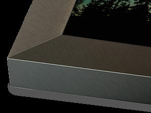 Wide Dark Pewter Aluminum Metal Frame