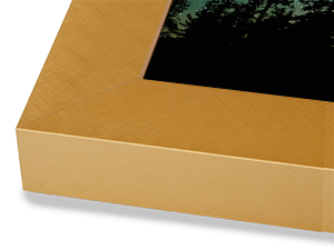 Wide Gold Aluminum Metal Frame