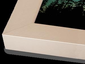 Wide Light Pewter Aluminum Metal Frame