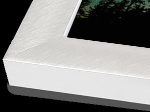 Wide Silver Aluminum Metal Frame