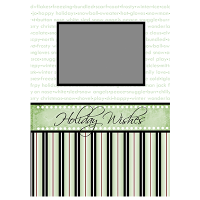 Holiday Flat or Folded Cards Design 015