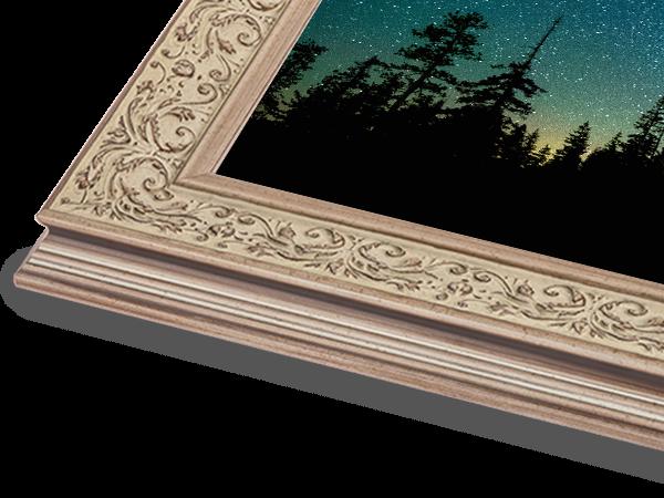 Cream Embossed Ornate Series Frame