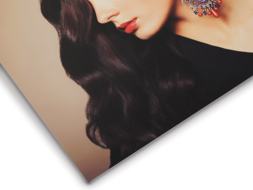 Woman with Ornate Earring Printed on Deep Matte Paper