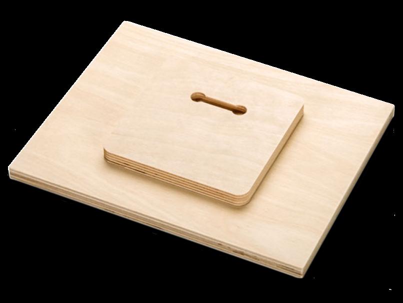 Wood Float Hanger on Back of Wood Print