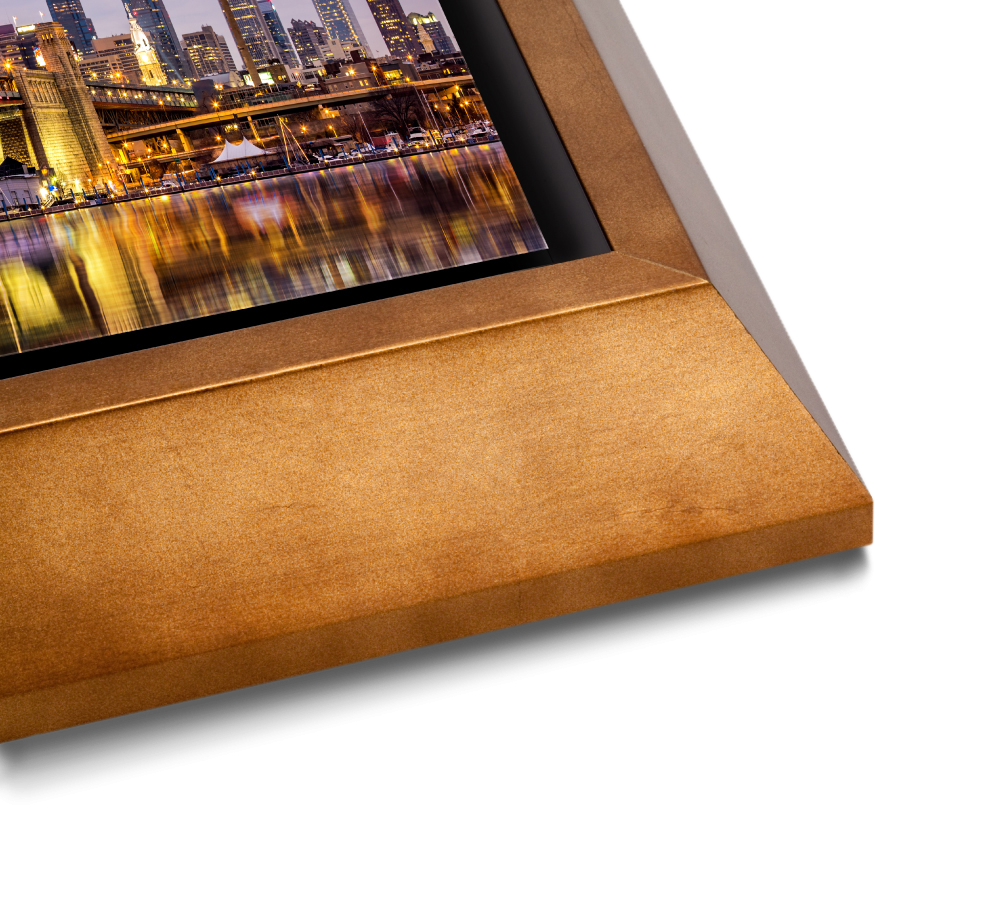 Gold Wedge Float Frame