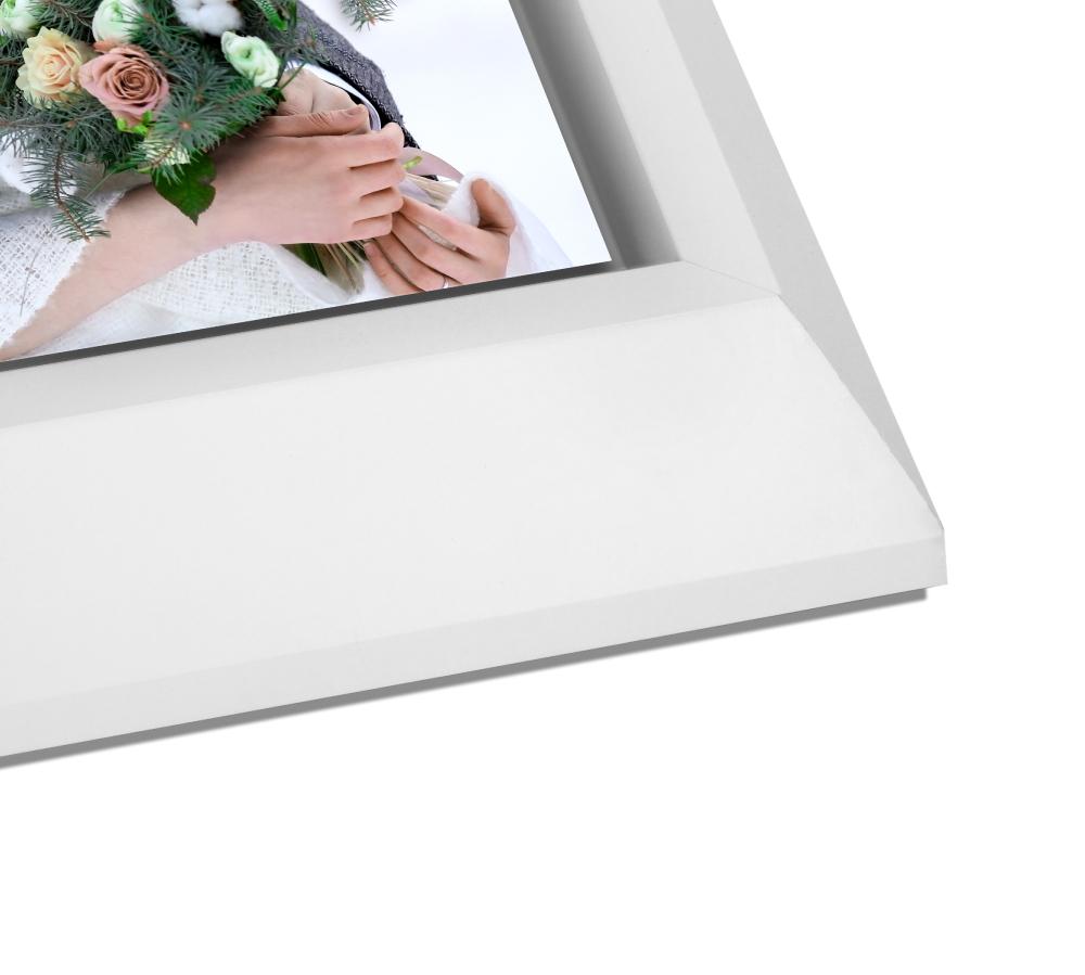 White Wedge Float Frame