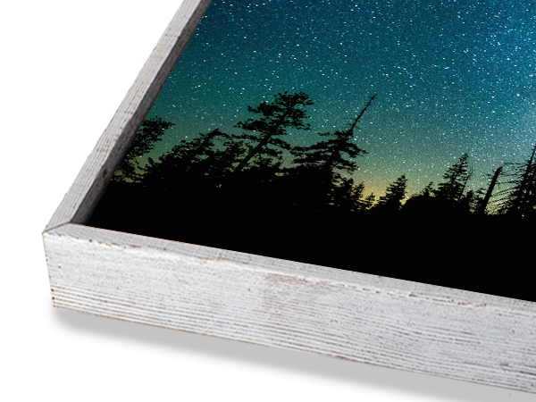 White Slim Float Frame
