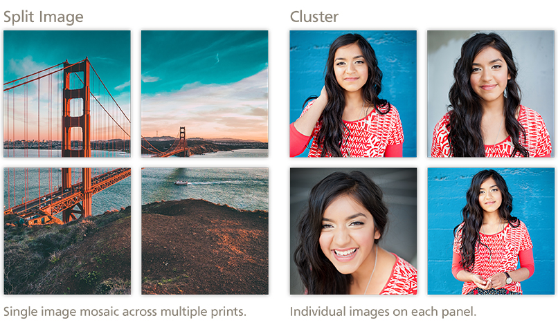 Split Image vs. Cluster Metal Prints