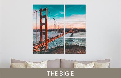 Golden Gate Bridge Printed on Split Image & Cluster Metal Print The Big E Design