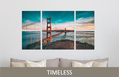 Golden Gate Bridge Printed on Split Image & Cluster Metal Print Timeless Design