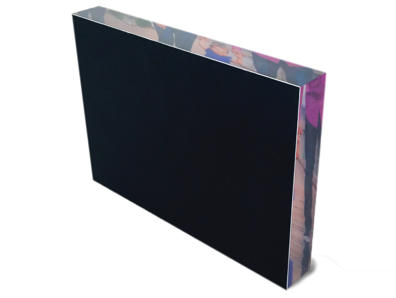Acrylic Block With White or Black Backing