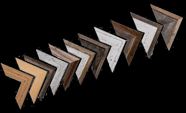 Framed Print Barnwood Frame Corner Set