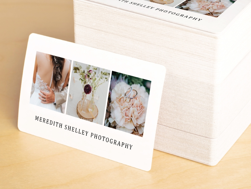 Flat Photographer Business Card Rounded Corners