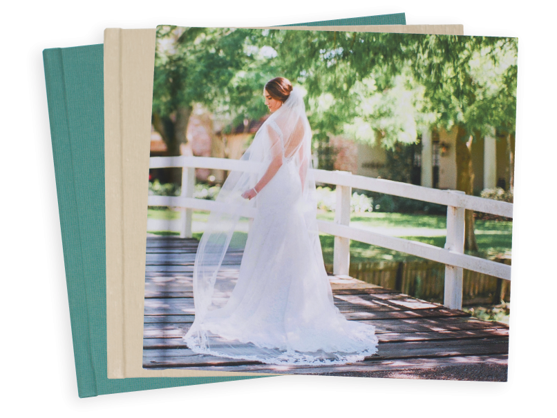 Picture Cover of Bride Book Covers, Fabric, Vegan Leather, Sparkle & Photo Covers