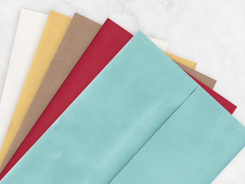 Colored Envelopes to Make a Statement