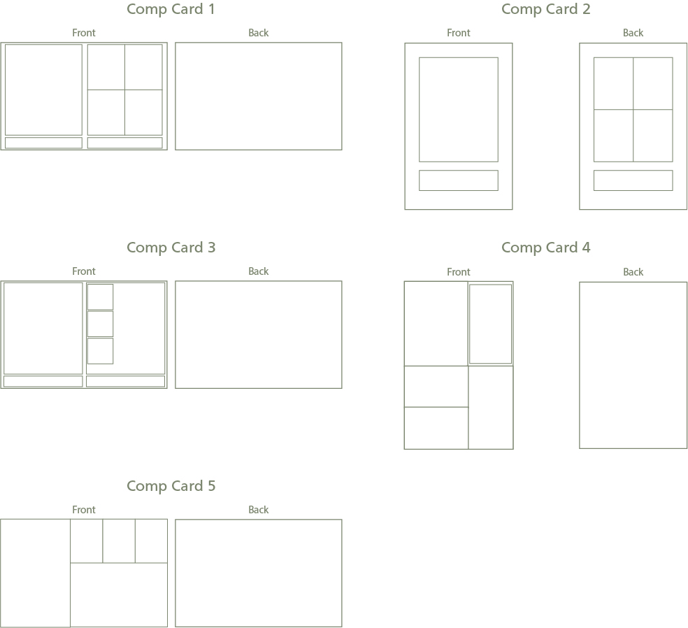 Comp Card Layouts