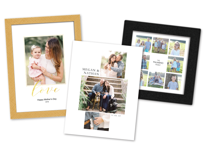 Engagement & Wedding Photos Printed on Composite             Prints with Custom Text