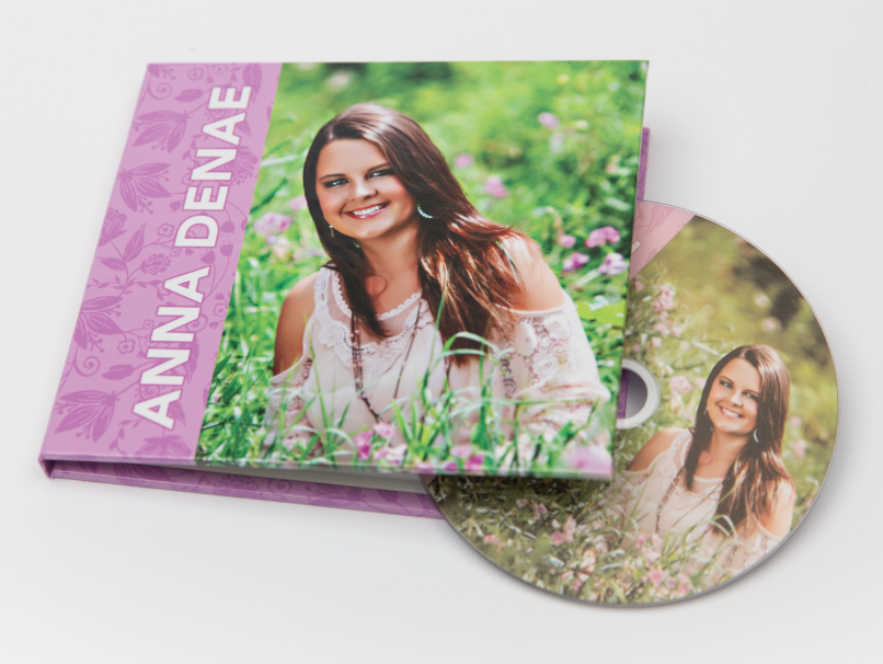 Senior Girl On Custom DVD Photo Cover Case & Printed DVD