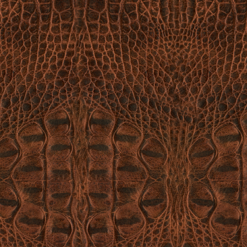 Rustic Croco Chestnut Exotic Leather for Mosaic Album