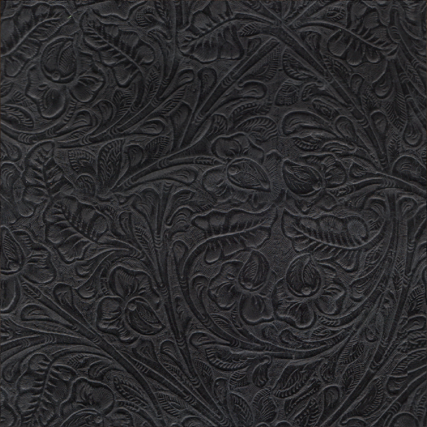 Vintage Tool Black Exotic Leather for Mosaic Album