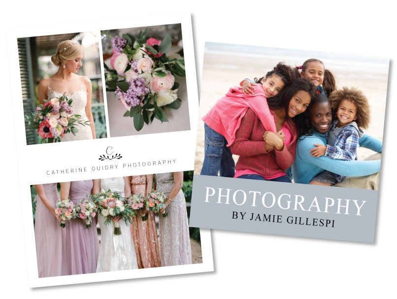 Wedding & Family Photographer Business Cards -  4 Sizes