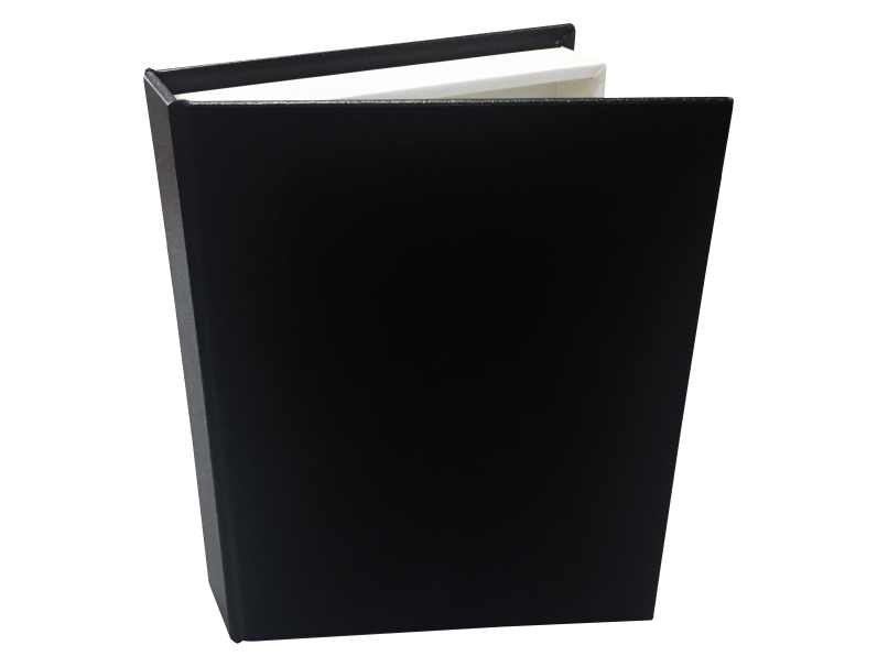 Black Faux Leather - 3 Faux Leather Covers for Folio Image Box