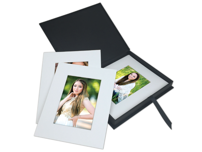 Senior Girl Folio Prints with DIY Photo Mats in Custom Folio Image Box