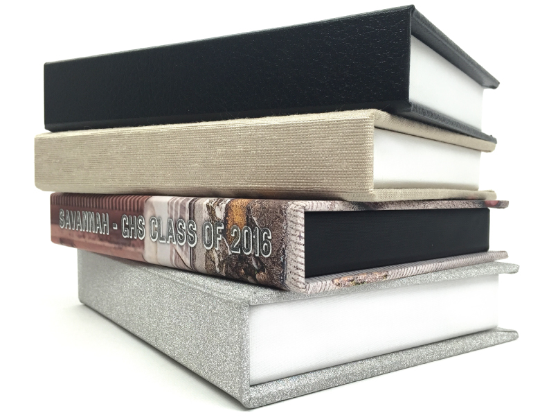 4 Folio Image Box Cover Materials Fabric, Faux Leather, Sparkle or Photo