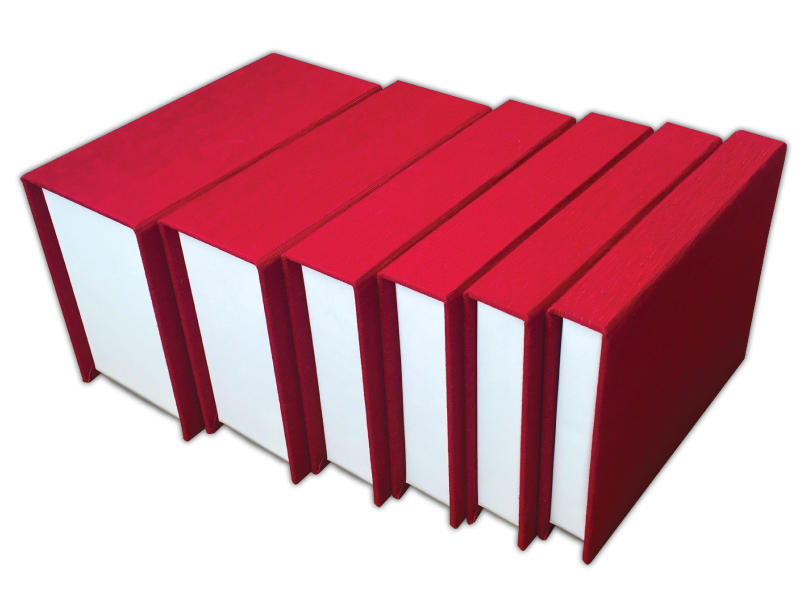 6 Folio Image Box Depths in Red Fabric