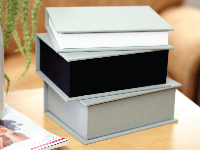White or Black Lining Color with Matching Pull Ribbon for inside of Box