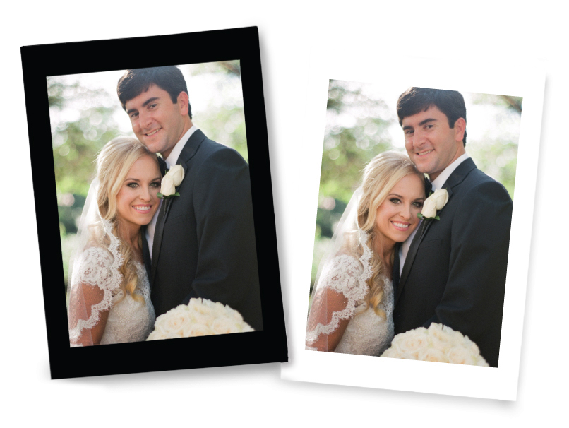 Wedding Portrait Print with Black or White Border