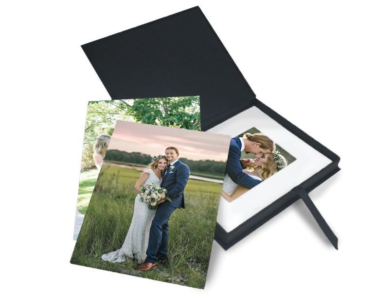 Wedding Portraits in Custom Folio Image Box & in DIY Photo Mats