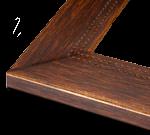 Rustic Walnut Wood Rustic & Modern Frame