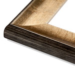 Silver Modern Wood Rustic & Modern Frame