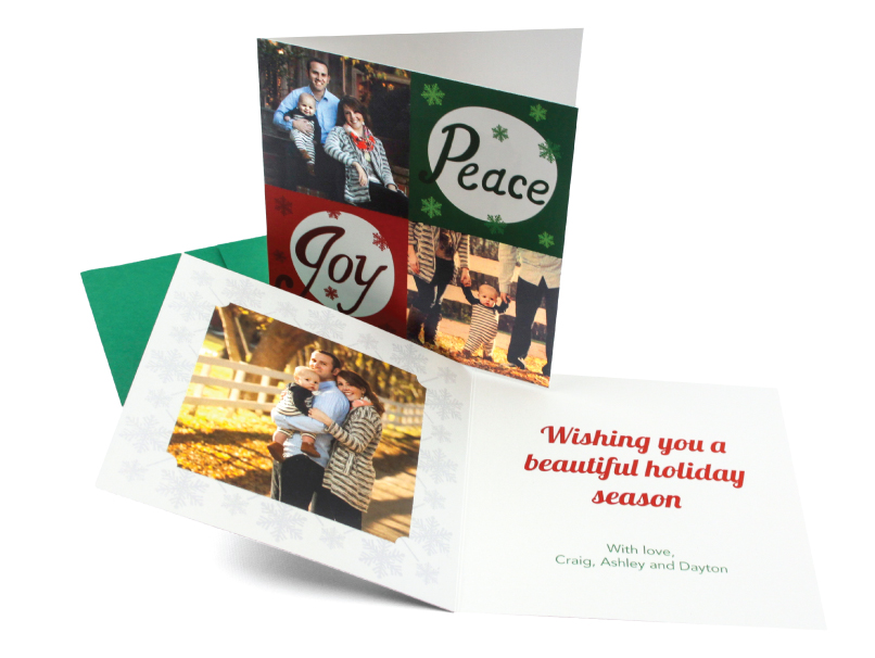 Holiday Cards in Bi-Fold, Tri-Fold & Accordion Fold Greeting Cards