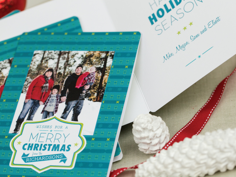 Holiday Card Bi-fold Greeting Card with Rounded Corners