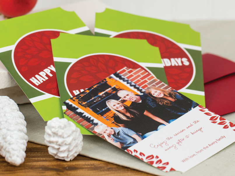 Design Your Own Shaped Holiday Greeting Card in 40 Shapes for Flat Cards & 6 Shapes for Folded Cards