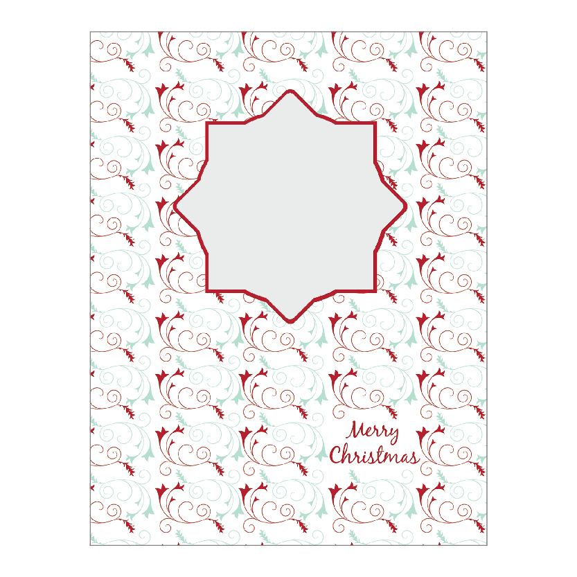 Holiday Flat or Folded Cards Design 009