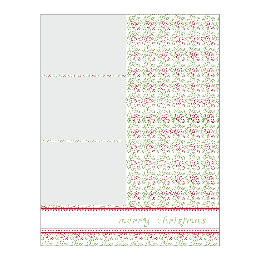 Holiday Flat or Folded Cards Design 011