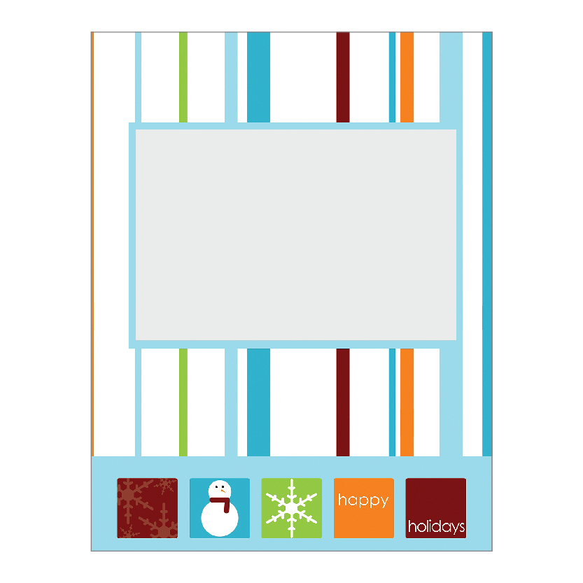 Holiday Flat or Folded Cards Design 016