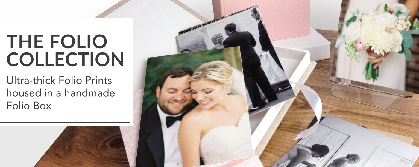 Wedding Photos Printed on Folio Collection Prints & in a Custom Boxes