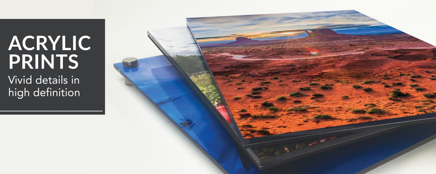 3 Landscape photos printed on Acrylic Prints