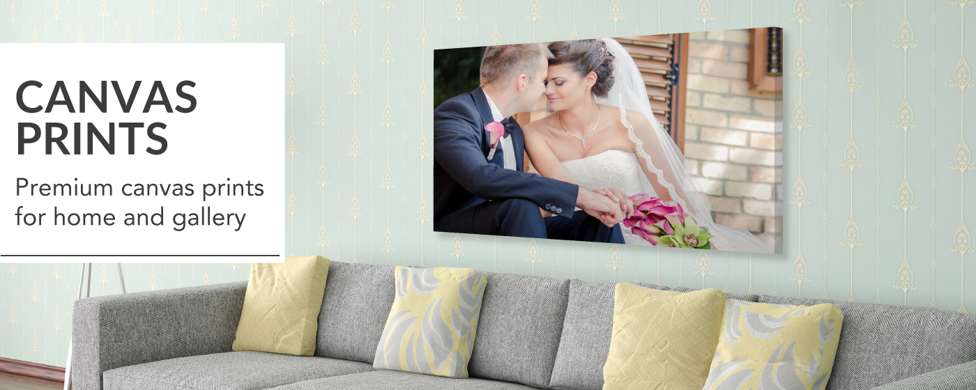 Bride & Groom Sitting with Foreheads Touching Printed on Canvas Gallery Wrap