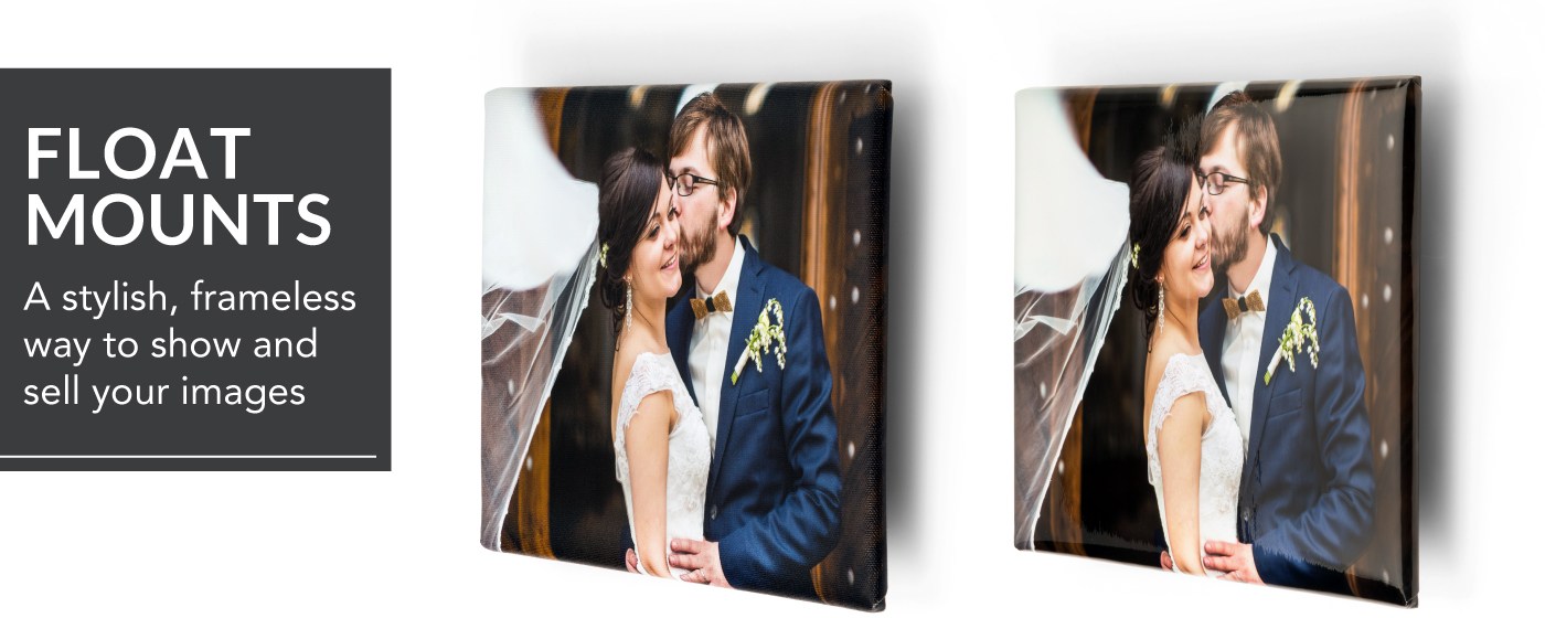 Image of Bride & Groom in front of a Rustic Door Printed on a Float Mount Wrap
